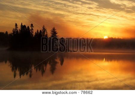 Dawn On The Lake