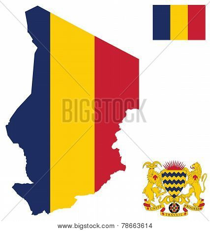 Republic of Chad Flag