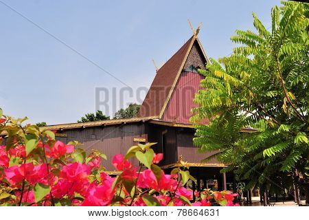 Traditional house on East Kalimantan, Indonesia