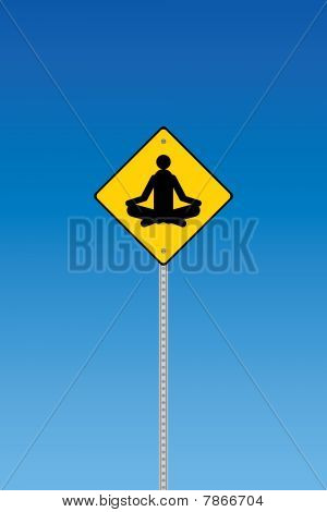 Yoga road sign