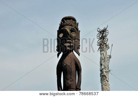 Traditional statue on Maluku islands, Indonesia