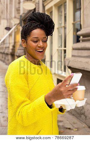 PHONE AND COFFEE