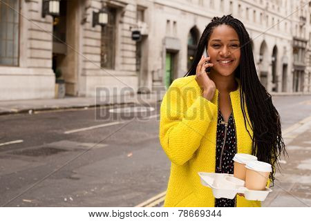 phone call and coffee