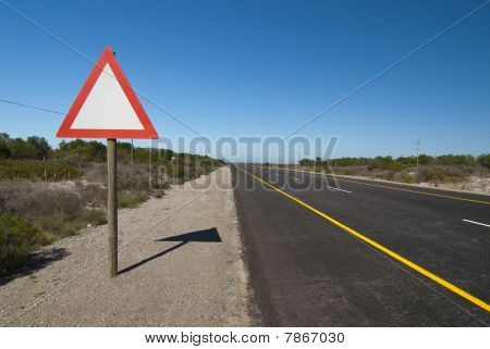 Sign Next To Road