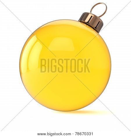 New Years Eve Christmas Ball Ornament Yellow Gold