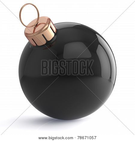 Christmas Ball New Years Eve Ornament Decoration Black