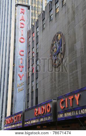 New York City landmark, Radio City Music Hall in Rockefeller Center in Midtown Manhattan