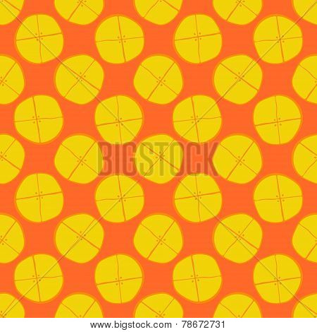 Lemon seamless pattern - vector fruit texture