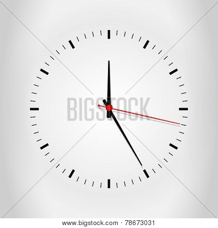 Clock face with shadow