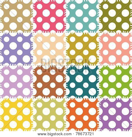 patchwork background with circle patterns
