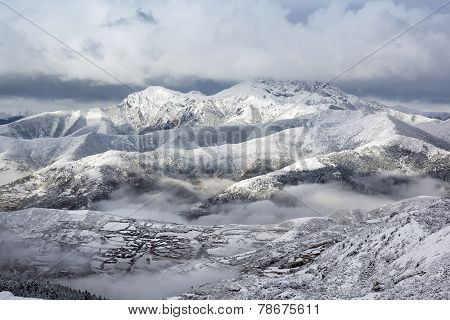 Mountain Ridge Snow Landscape