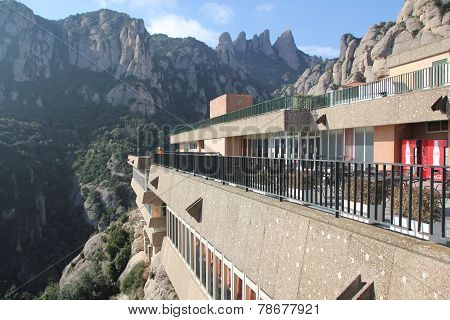 monastery of Montserrat In the mountains