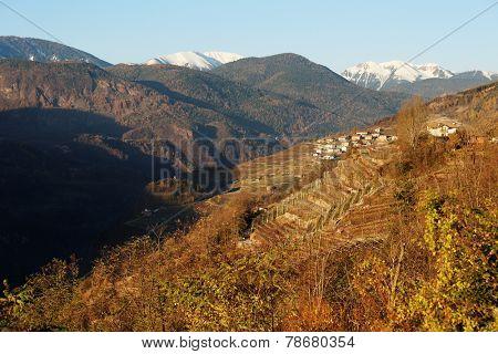 Valley di Cembra in Trentino, Italy