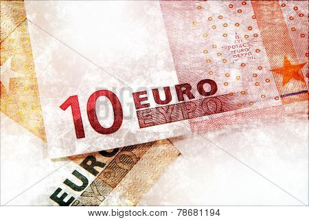 Euro Money Grunge Background