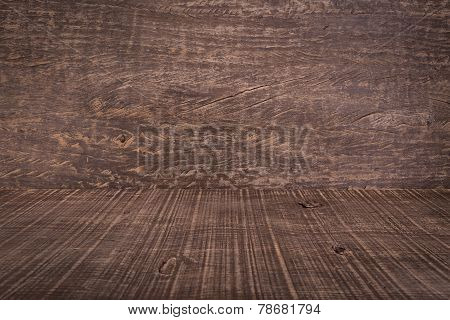 Background Texture Of Wood In Perspective. Dramatic Style.
