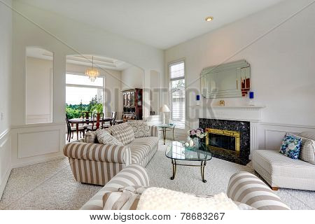 Bright Living Room In Luxury House