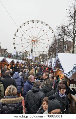 Christmas Market In Brussels, Winter Wonders.