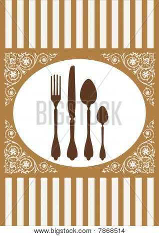 Menu of restaurant card, vector illustrtion