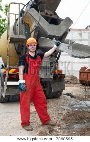 Construction Builder And Concrete Mixer