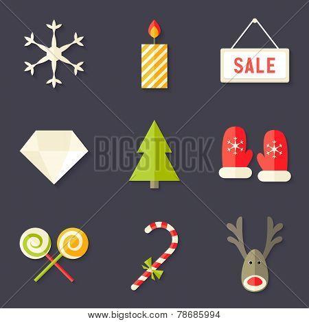 9 Christmas Icons Set 7