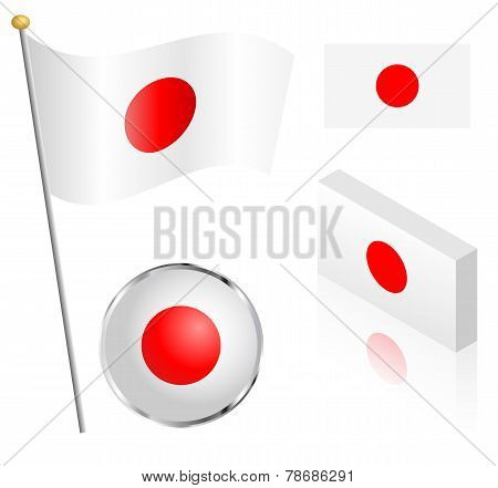 Japanese Flag Set