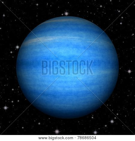 Abstract Neptune Planet Generated Texture Background