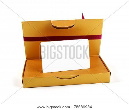 Gift Box With Blank Gift Card Inside
