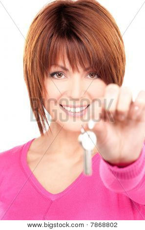 Happy Woman With Keys