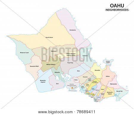 Oahu Neighborhood Map