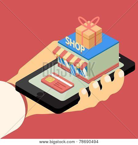 Mobile store concept.