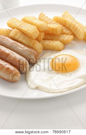 Sausage Egg And Chips