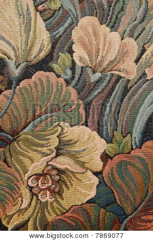 Pattern Of A Classical Ornate  Floral Tapestry