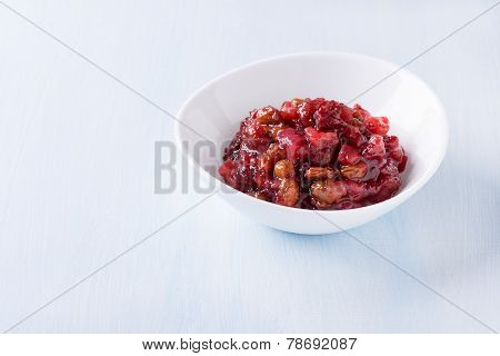 Pear Cranberry Relish For Christmas