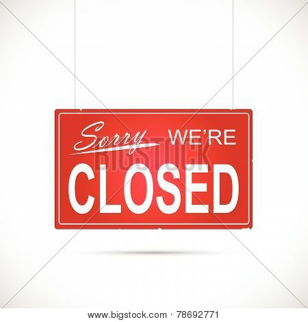 Closed Sign Illustration