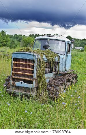 old tractor Soviet times