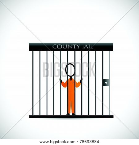 Prisoner In Jail Illustrator