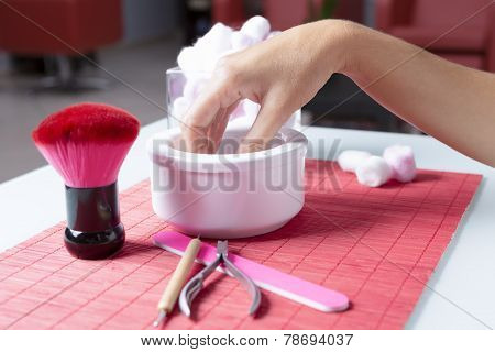 Hands Preparing For Manicure