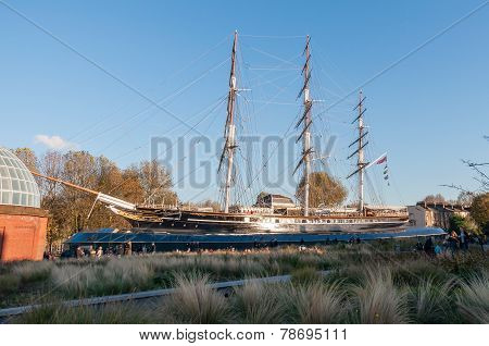 View Of The Cutty Sark In London