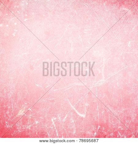 Grungy Abstract  Background Or Textured Backdrop Red Color With Scratches. Old Background For Your D