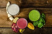 stock photo of pomegranate  - Healthy smoothie  - JPG