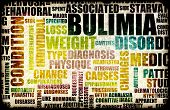 foto of bulimic  - Bulimia Nervosa Eating Disorder as a Concept - JPG
