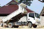 stock photo of dumper  - dumper truck on construction site - JPG