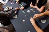 picture of poker hand  - People playing poker - JPG
