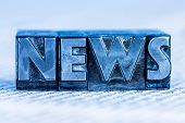 pic of newsletter  - the word news written with lead letters - JPG