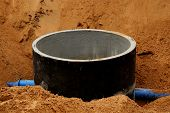 pic of catheter  - The Concrete pipe in sand - JPG