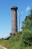 stock photo of observed  - observation tower in the northern Black Forest in Germany - JPG