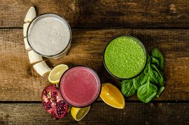 foto of fruit shake  - Healthy smoothie  - JPG