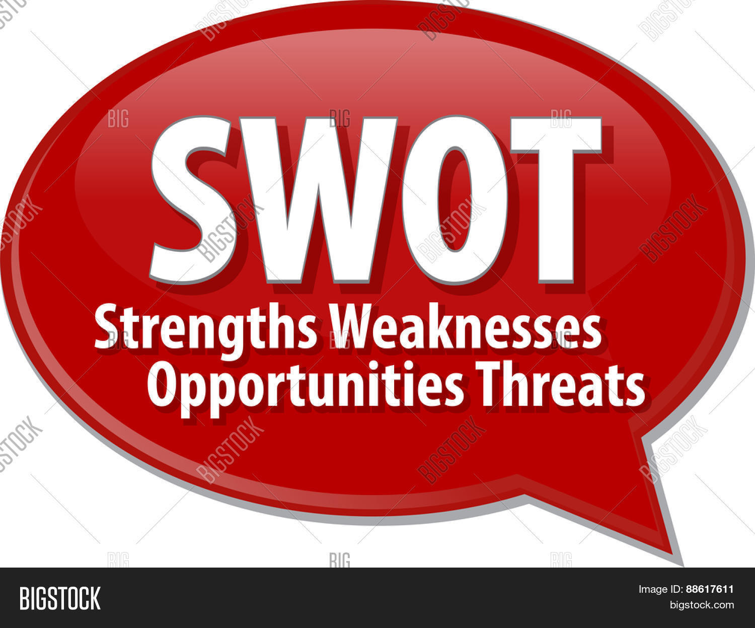 word speech bubble illustration of business acronym term swot word speech bubble illustration of business acronym term swot strength weaknesses opportunities threats