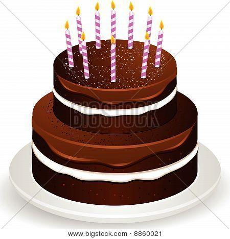 Chocolate Birthday Cake Tier
