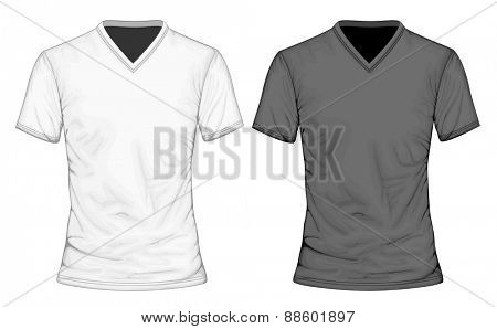 Men's t-shirt short sleeve. Vector illustration.